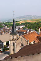 View from winery over village and church. Domaine Henri Bourgeois, Chavignol, Sancerre, Loire, France