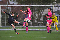 Justine Blave (22) of Eendracht Aalst pictured during a female soccer game between Sporting Charleroi and Eendracht Aalst on the 8th matchday in play off 2 of the 2020 - 2021 season of Belgian Scooore Womens Super League , tuesday 18 th of May 2021 in Marcinelle , Belgium . PHOTO SPORTPIX.BE   SPP   STIJN AUDOOREN