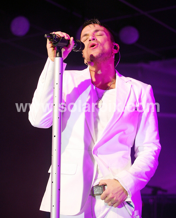 **ALL ROUND PICTURES FROM SOLARPIX.COM**.**WORLDWIDE SYNDICATION RIGHTS**.Stock pictures of Australian singer Peter Andre in concert, at the start of his tour at Seawick holiday park near Clacton on Sea, Essex, UK. 19_02_2010..This pic: Peter Andre..JOB REF:  11033      SKD       DATE: 19_02_2010.**MUST CREDIT SOLARPIX.COM OR DOUBLE FEE WILL BE CHARGED**..**MUST NOTIFY SOLARPIX OF ONLINE USAGE**.**CALL US ON: +34 952 811 768 or LOW RATE FROM UK 0844 617 7637**