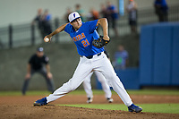 Florida Gators pitcher Alex Faedo (21) in action against the Wake Forest Demon Deacons in Game Three of the Gainesville Super Regional of the 2017 College World Series at Alfred McKethan Stadium at Perry Field on June 12, 2017 in Gainesville, Florida.  The Gators defeated the Demon Deacons 3-0 to advance to the College World Series in Omaha, Nebraska.   (Brian Westerholt/Four Seam Images)