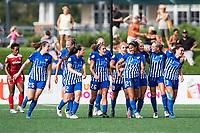 Boston, MA - Saturday July 01, 2017: Boston Breakers celebrate Margaret Purce's first professional goal during a regular season National Women's Soccer League (NWSL) match between the Boston Breakers and the Washington Spirit at Jordan Field.