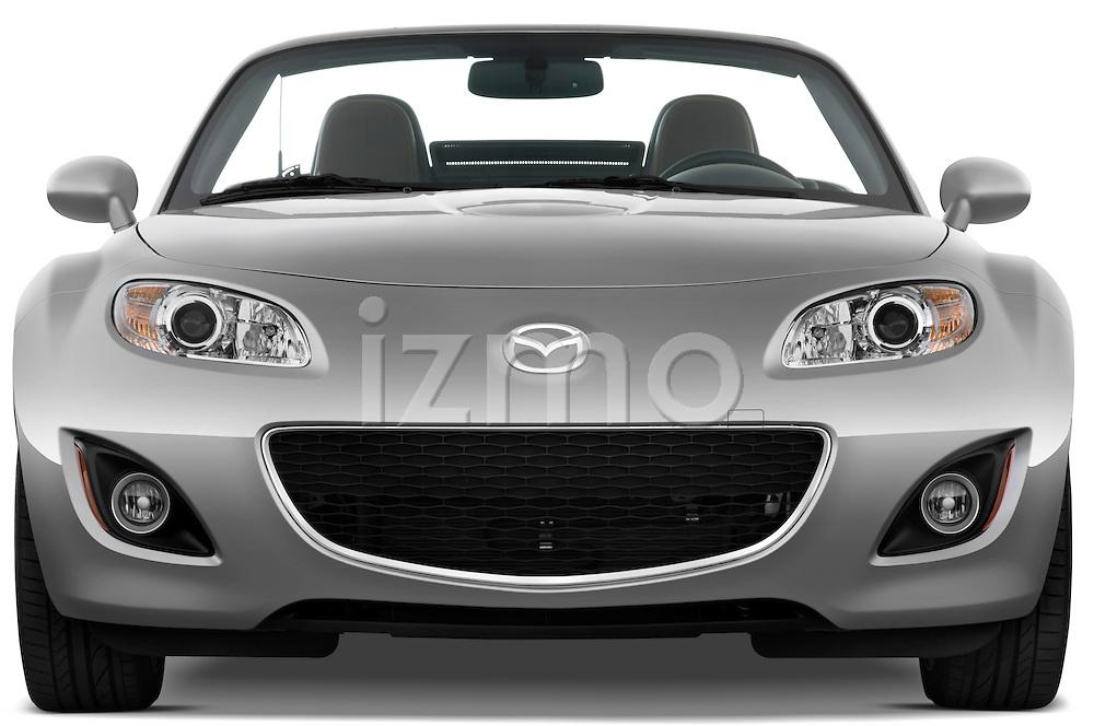 Straight front view of a 2010 Mazda Miata MX5