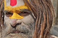 Sadhus at the Shambhu Nath Hindu Cremation Area, Kathmandu Nepal