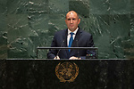 General Assembly Seventy-fourth session, 7th plenary meeting<br /> <br /> <br /> His Excellency Rumen Radev, President, Republic of Bulgaria
