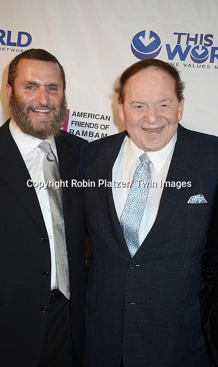 Rabbi Shmuley Boteach and Sheldon Adelson attend the Inaugural Champion of Jewish Values International Awards Gala on June 4, 2013 at the Marriott Marquis Hotel in New York City. Sheldon Adelson, Mrs Miriam Adelson and Dr Mehmet Oz were honored.