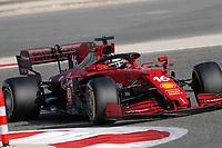 27th March 2021; Sakhir, Bahrain; F1 Grand Prix of Bahrain, Qualifying sessions;  16 LECLERC Charles (mco), Scuderia Ferrari SF21 during Formula 1 Gulf Air Bahrain Grand Prix 2021 qualifying
