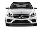 Car photography straight front view of a 2016 Mercedes Benz E-Klasse Sportline 4 Door Sedan Front View