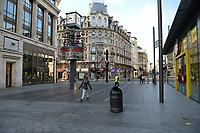 General view of a deserted Leicester Square during the ongoing Lockdown restrictions in London on 30th December 2020