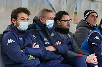 Charleroi staff pictured before a female soccer game between FC Femina White Star Woluwe and Sporting Charleroi on the 10 th matchday of the 2020 - 2021 season of Belgian Scooore Womens Super League , Saturday 19 th of December 2020  in Woluwe , Belgium . PHOTO SPORTPIX.BE | SPP | SEVIL OKTEM