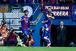 Leo Messi and Neymar Santos Jr of FC Barcelona celebrates after scoring a goal during the match of  Copa del Rey (King's Cup) Final between Deportivo Alaves and FC Barcelona at Vicente Calderon Stadium in Madrid, May 27, 2017. Spain.. (ALTERPHOTOS/Rodrigo Jimenez)