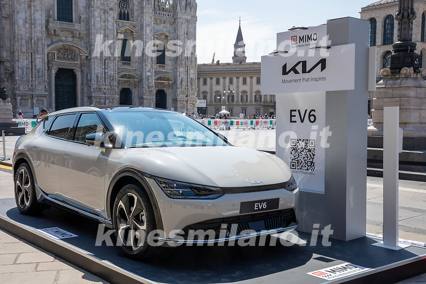 Kia EV 6- MILANO, ITALY, the Milan Monza Motor Show, from 10th to 13th June 2021 in Milan and Monza and will present the news of the 60 participating car and motorcycle manufacturers. With a democratic format, in which brands will exhibit their cars on equal stands, MIMO wants to give a restart signal for the world of fair and the automotive sector, with a free access and safe exhibition.