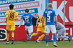 20.02.2021, xtgx, Fussball 3. Liga, FC Hansa Rostock - SV Waldhof Mannheim, v.l. Lion Lauberbach (Rostock) vergibt Chance zum 2:0 <br /> (DFL/DFB REGULATIONS PROHIBIT ANY USE OF PHOTOGRAPHS as IMAGE SEQUENCES and/or QUASI-VIDEO)<br /> <br /> Foto © PIX-Sportfotos *** Foto ist honorarpflichtig! *** Auf Anfrage in hoeherer Qualitaet/Aufloesung. Belegexemplar erbeten. Veroeffentlichung ausschliesslich fuer journalistisch-publizistische Zwecke. For editorial use only.