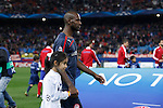 Olympiacos´s Abidal during Champions League soccer match between Atletico de Madrid and Olympiacos at Vicente Calderon stadium in Madrid, Spain. November 26, 2014. (ALTERPHOTOS/Victor Blanco)