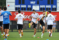 Saint Louis, MO August 1 2013<br /> Real Madrid players warm up.<br /> Real Madrid practiced at Herman Stadium on the campus of Saint Louis University ahead of their international friendly with Inter Milan at the Edward Jones Dome.