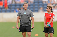 Chicago, IL - Saturday July 30, 2016: Bonnie Young prior to a regular season National Women's Soccer League (NWSL) match between the Chicago Red Stars and FC Kansas City at Toyota Park.