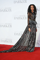 """Corrine Bailey Rae<br /> at the """"Fifty Shades Darker"""" premiere, Odeon Leicester Square, London.<br /> <br /> <br /> ©Ash Knotek  D3223  09/02/2017"""