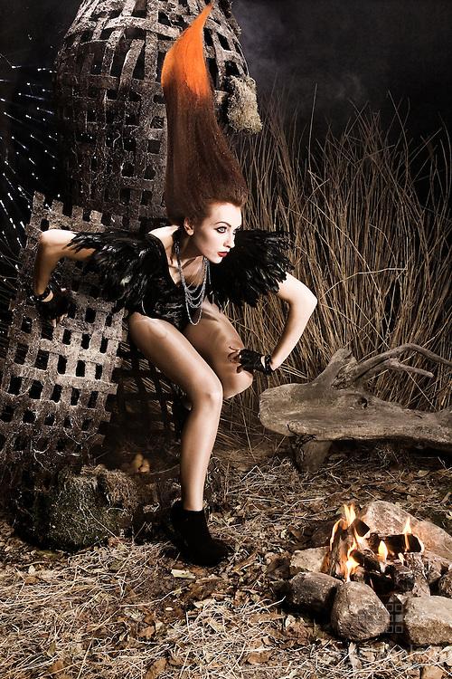 ESCAPE.Photography: Angela Halpin / Jang Productions.Producer/Director: Jason Foran/Jang Productions.Model:Laura Graham 1st Option Models.Hair Designer Leo Ribeiro .Make Up :Nadia Macari.