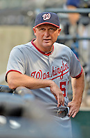 24 July 2012: Washington Nationals bench coach Randy Knorr in the dugout during a game against the New York Mets at Citi Field in Flushing, NY. The Nationals defeated the Mets 5-2 to take the second game of their 3-game series. Mandatory Credit: Ed Wolfstein Photo