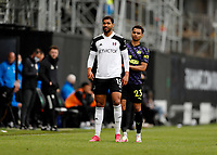 23rd May 2021; Craven Cottage, London, England; English Premier League Football, Fulham versus Newcastle United; Ruben Loftus-Cheek of Fulham marked by Jacob Murphy of Newcastle United