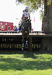 Rebecca Howard and Riddle Master of Canada compete in the cross country phase of the FEI  World Eventing Championship at the Alltech World Equestrian Games in Lexington, Kentucky.