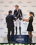 Bertram Allen of Ireland riding Quiet Easy 4 celebrates after winning the Longines Speed Challenge as part of the Longines Masters of Hong Kong on 20 February 2016 at the Asia World Expo in Hong Kong, China. Photo by Juan Manuel Serrano / Power Sport Images