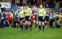 Photo: Richard Lane/Richard Lane Photography. London Wasps v Bath Rugby. LV=Cup. 14/11/2010. The match officials lead the teams out.