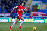 George Friend of Middlesbrough during the Sky Bet Championship match between Cardiff City and Middlesbrough at the Cardiff City Stadium, Cardiff, Wales on 17 February 2018. Photo by Mark Hawkins / PRiME Media Images.
