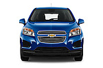 Car photography straight front view of a 2016 Chevrolet Trax LS 5 Door SUV Front View