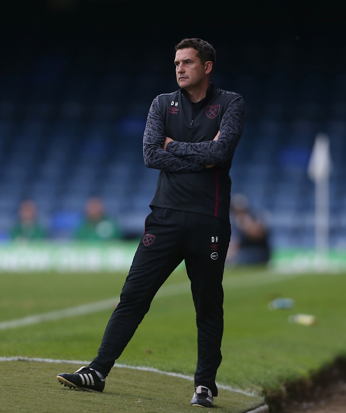 West Ham United's U21 head coach Dmitri Halajko<br /> <br /> Photographer Rob Newell/CameraSport<br /> <br /> EFL Trophy Southern Section Group A - Southend United v West Ham United U21 - Tuesday 8th September 2020 - Roots Hall - Southend-on-Sea<br />  <br /> World Copyright © 2020 CameraSport. All rights reserved. 43 Linden Ave. Countesthorpe. Leicester. England. LE8 5PG - Tel: +44 (0) 116 277 4147 - admin@camerasport.com - www.camerasport.com