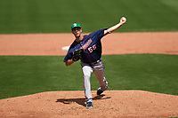 Minnesota Twins pitcher Taylor Rogers (55) during a Major League Spring Training game against the Boston Red Sox on March 17, 2021 at JetBlue Park in Fort Myers, Florida.  (Mike Janes/Four Seam Images)