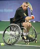 17-11-07, Netherlands, Amsterdam, Wheelchairtennis Masters 2007, Norfolk in action in the final