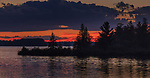 Sunset on the Chippewa Flowage in northern Wisconsin.