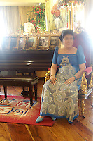 Former first Lady Imelda Marcos of the Philippines in her apartment in Makati, Manila in 2006