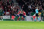 Atletico de Madrid's Antoine Griezmann celebrates goal during UEFA Champions League match between Atletico de Madrid and AS Monaco at Wanda Metropolitano Stadium in Madrid, Spain. November 28, 2018. (ALTERPHOTOS/A. Perez Meca)