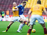 Motherwell v St Johnstone…20.10.18…   Fir Park    SPFL<br />Liam Craig is tackled by Curtis Main<br />Picture by Graeme Hart. <br />Copyright Perthshire Picture Agency<br />Tel: 01738 623350  Mobile: 07990 594431