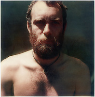 Photographer Glenn Busch in New Zealand c.1976 Polaroid SX-70 image