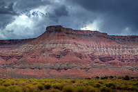 A storm approaches Hurricane Mesa in Souhtern Utah