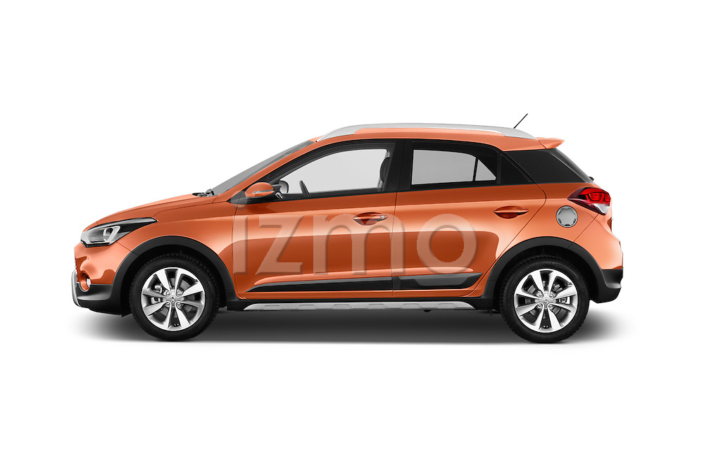 Car Driver side profile view of a 2016 Hyundai i20 ACTIVE Pop 5 Door Hatchback Side View