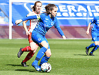 midfielder Sien Vandersanden (10) of KRC Genk pictured during a female soccer game between  Racing Genk Ladies and SV Zulte-Waregem on the 18 th and last matchday before the play offs of the 2020 - 2021 season of Belgian Scooore Womens Super League , saturday 27 th of March 2021  in Genk , Belgium . PHOTO SPORTPIX.BE | SPP | JILL DELSAUX