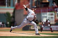 Altoona Curve starting pitcher Ryan Vogelsong (50), on rehab assignment from the Pittsburgh Pirates, delivers a pitch during a game against the Erie SeaWolves on July 10, 2016 at Jerry Uht Park in Erie, Pennsylvania.  Altoona defeated Erie 7-3.  (Mike Janes/Four Seam Images)