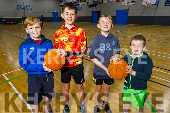 Jack Maguire, Rory and Zac Kearney and Harry Maguire enjoying the Sports Camp at the Tralee Sports Complex on Monday.