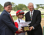 July 05 2015: Big Blue Kitten with Joe Bravo win the Grade I United Nations Stakes for 3-year olds & up, going 1 3/8 mile on the turf, at Monmouth Park.  Trainer Chad Brown. Owner Kenneth & Sarah Ramsey. Sue Kawczynski/ESW/CSM
