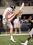 Oregon State Beavers punter Keith Kostol #48 practices punting before the game between Oregon State Beavers and TCU Horned Frogs at the Cowboy Stadium in Arlington,Texas. TCU defeated Oregon State 30-21.