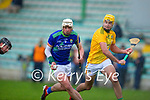 Shane Nolan, Kerry, in action against Shane Whitty, Meath during the Round 1 meeting of Kerry and Meath in the Joe McDonagh Cup at Austin Stack Park in Tralee on Sunday.