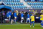 Real Sociedad elevens up go out the pitch  La Liga match round 10 between Cadiz CF and Real Sociedad at Ramon of Carranza Stadium in Cadiz, Spain, as the season resumed following a three-month absence due to the novel coronavirus COVID-19 pandemic. Nov 22, 2020. (ALTERPHOTOS/Manu R.B.)