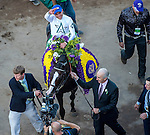 ARCADIA, CA - NOVEMBER 05: Joel Rosario, aboard Tourist #5, after winning the Breeders' Cup Mile during day two of the 2016 Breeders' Cup World Championships at Santa Anita Park on November 5, 2016 in Arcadia, California. (Photo by Michael McInally/Eclipse Sportswire/Breeders Cup)