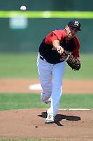 Portland Sea Dogs pitcher Matt Barnes #35 during a game versus the Altoona Curve at Hadlock Field in Portland, Maine on June 2, 2013. (Ken Babbitt/Four Seam Images)