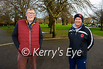 Enjoying a stroll in the Tralee town park on Thursday, l to r: Brian Quilter and Pat Carmody.