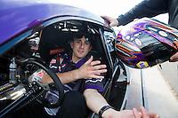 Feb 23, 2014; Chandler, AZ, USA; NHRA pro stock driver Vincent Nobile during  the Carquest Auto Parts Nationals at Wild Horse Pass Motorsports Park. Mandatory Credit: Mark J. Rebilas-USA TODAY Sports