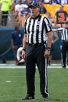 ACC center football  judge Larry Hayes. The Pitt Panthers football team defeated the Georgia Tech Yellow Jackets 24-19 on September 15, 2018 at Heinz Field in Pittsburgh, Pennsylvania.